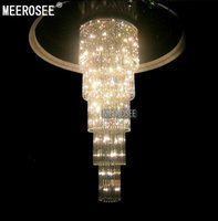 Crystal Glass Chandelier Ceiling Light Fixture Large lustre ...