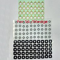 100 adet / grup Orijinal Yeni Cam malzeme Geri Ana Kamera Halka Kapak Lens sticker samsung galaxy S6 G920 ve S6 kenar G925