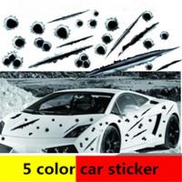 세련된 5 디자인 스티커 자동차 가짜 총알 구멍 스크래치 자동차 데칼 차체 스티커 시원한 자동차 데칼 atp234