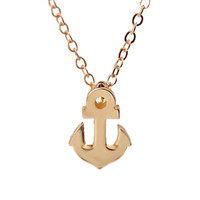 Dogeared With Card Sparkling Friendship Anchor Collana in argento placcato in argento placcato Catene clavicola Collana con ciondoli piccoli Collana donna
