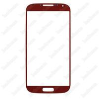100 pcs frente outer touch screen vidro substituição da lente para samsung galaxy s4 i9500 i9505 i337 free dhl