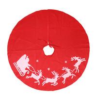 Noel Ağacı Etek Dekoratif Kapak Ile Noel Elk Kırmızı Yuvarlak Kumaş Mat Ağaç Dekorasyon Için 39 inç