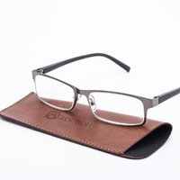 Großhandel Marke High-End Business Lesebrille Männer Edelstahl PD62 Gläser Ochki 1,75 + 3,25 Grad