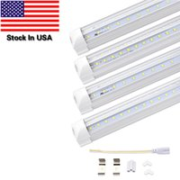 Stock In US, 4FT 5FT 6FT 8FT LED Tube Lights, Dual- sided V- sha...