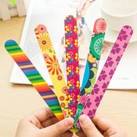 20шт Оптовая ногтей гаджет супер практичный двухсторонний пилочка для ногтей / полиши Burnishingng полосы 17,8 * 2 см много цветов микс