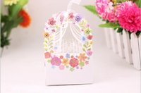 Boîte de mariage douce nouvelles roses européennes boîte à bonbons carton commerce extérieur cadeaux évider boîte à bonbons shiipping gratuit CB002