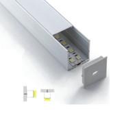 Profilé à led en aluminium série 6000 et lots de série 50 X 1M et canal en U de grande taille pour revêtements de sol ou encastrés