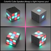 Magic Cube Design Colorful 36 LED Flash Bluetooth Mini Speak...
