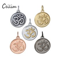 New Accessories 5 Colors Stainless Steel OM Mantra Sign Char...