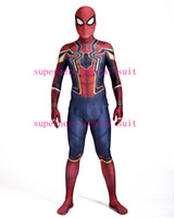 New Iron- Spider Homecoming Spiderman Costume Cosplay 3D Prin...