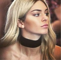 Women Punk Wide Black Velvet Neck Chain Choker Necklace Bib ...