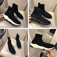 2017 de Alta Calidad Doble Box Speed ​​Trainer Zapato Casual Hombre Mujer Botas Informales Flat Zoom Stretch-Knit Mesh Trainer Race Runner Sneaker Barato