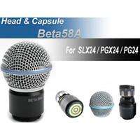 Güvenli Ücretsiz Kargo Kablosuz Mikrofon El MIC Kafa Kapsül Izgara PGX24 / SLX24 / Beta58A Mikrofon En Iyi