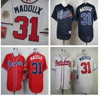 Maddux Jerseys. Atlanta Braves 31# Greg Maddux 75th Patch men...