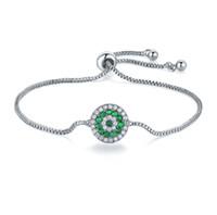 Verkauf 4Color Modeschmuck 925 Silber Kristall Herz Charm Armband Kristalle von Swarovski für Frauen Pandora Hochzeit Schmuck