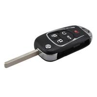 Стайлинга автомобилей 5Buttons флип складной дистанционный ключ чехол для Chevrolet Camaro Cruze равноденствия Impala Malibu Sonic HU100 лезвие