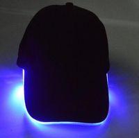 LED Sombrero de Luz LED Flash Sombreros Gorras de béisbol Sombreros de Luz LED Sombreros de Fiesta Gorro de Niños Grils Sombrero Luminoso de Moda Gorras de Pelota Sombrero de Hip-hop