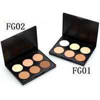 Popfeel FG Factory 6Color Bronzer Powder Bronzer Highlighter Palette Contorno de maquillaje Face Concealer 2style EMS DHL 48PCS