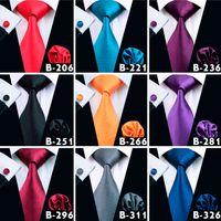 14 estilo de alta calidad corbata conjunto de seda sólido Jacquard Bussiness boda corbatas para los hombres