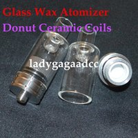 Huge Vapor Full Glass Wax Atomizer Donut wickless Coils Pyre...