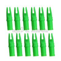 Nock de flèche de tir à l'arc en plastique vert de 100 pièces pour ID 7.6mm OD 8.8mm flèches en aluminium