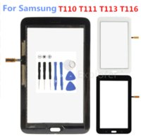 Сенсорное стекло панель для Samsung Galaxy Tab 3 7.0 Lite SM-T110 T111 T113 Tab 4 Lite T116 3G WiFi сенсорный экран дигитайзер + логотип
