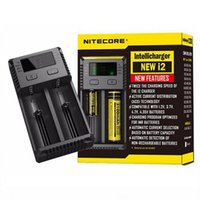 Nitecore New I2 Carregador de Bateria com Display LED de Carregamento para 10340 10350 10440 10500 12340 12500 12650 16650 etc 2016 Novo I2 Original