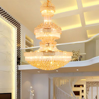 ModernCrystal Chandeliers LED American Gold Chandelier Light...