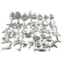 1 مجموعة = 40 قطع سبائك العتيقة الحصين خمر مجوهرات البحر نجم قلادة الأزياء