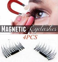 4pcs Pair 3D Magnetic Eyelashes False Fake Eyelashes Easy To...