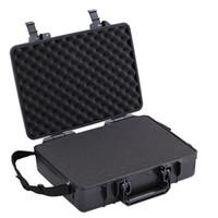 """10 """"~ 14"""" Laptop Kolu Durumda iPad Mini Toz Geçirmez Su Geçirmez Güvenlik Ekipmanları Enstrüman Kutusu Moistureproof Kilitleme Kamera Dizüstü"""