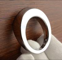 Tiradores Hardware 4pcs moderna del cromo redondo de muebles Muebles de Cocina Tire de la puerta perillas del cajón Armario Armario Dresser puerta corredera Accesorios