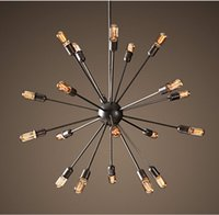 Hot Sputnik Atomic Starburst Light Lamp Chandelier Mid Centu...