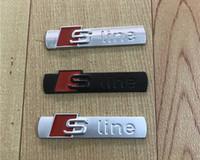 3D S LINE Sline Coche Rejilla Delantero Grille Emblema Insignia Metal Aleación Pegatinas Accesorios Accesorios Estilo para Audi A1 A3 A4 B6 B8 B5 B7 A5 A6 C5 C6 A7 TT