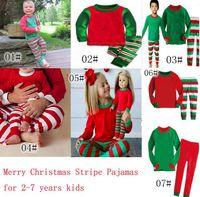 2017 neue weihnachten pyjamas langarm pyjamas junge mädchen herbst winter pyjamas kinder pyjama sets weihnachten pyjamas baby nachtwäsche kinder cothes set