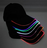 뜨거운 남자의 여자의 LED 패션 스포츠 야구 모자 수행자 나이트 클럽 힙합 파티 야구 모자 야간 조명이 켜져 라이트 백 모자 바이저