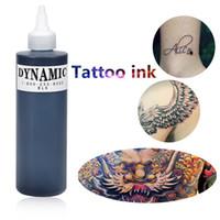 Professionnel 1 encre de tatouage de bouteille pour la doublure et l'ombrage Date Tribal Liner Shader Pigment noir Date 249ML Drop Shipping