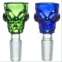 Super Glas Bong Bowls 14mm 18mm Joint Schädel Themed Männlich Glasschale für Glas Wasserleitungen und Bongs Männliche Schüssel