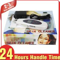 Cuidado facial portátil digital Ultrasónico Scrubber de la piel Peeling facial Dispositivo de belleza de elevación de alta frecuencia LCD