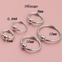 NOSE Body jewelry N09 mix 3 size 100pcs lot nose ring steel ...