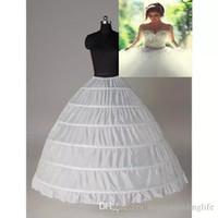 Súper barato vestido de bola 6 aros enagua de la boda del resbalón nupcial Underskirt capas Slip 6 aro falda para vestido de quinceañera