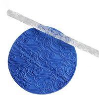 Effet de peau de crocodile Texture Gaufrage Acrylique Fondant Gâteau Décoration Rouleau à pâtisserie Outils à pâtisserie Rouleaux à pâtisserie Conseils de pâtisserie