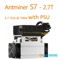 Bitcoin Miner Antminer S7 2.7ème Asic Miner S7 S7-LN 2700GH Le plus récent Btc Miner Better Than Antminer S5 avec PSU / DHL shipping / not new
