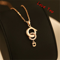 Real Gold Plated Choker Necklace Crystal Round Pendant Neckl...