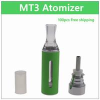 MT3 분무기 - DHL 100PCs. 2.4ml 코일 교체 가능한 전자 담배 분무기 재구성 가능한 코일 clearomizer 탱크 자아 배터리 용