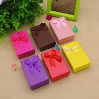La nuova scatola di gioielli di colore della caramella all'ingrosso sveglio, scatole regalo per la collana, le scatole del braccialetto, scatole di regalo di carta per la visualizzazione dei gioielli Trasporto libero