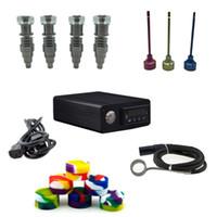 Alta qualità Classic Fit 16mm20mm bobina Titanio / quarzo ibrido E Digital Kit per unghie Digital Essential Oil Vaporizzatore kit in magazzino DHL libero