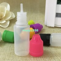 Wholesale 1000pcs 10ML LDPE E Liquid Bottle With Childproof ...
