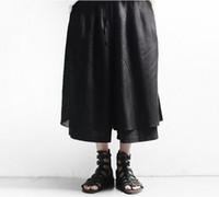 Mens Sommer neue Mode und Persönlichkeit 7 Minuten Hosen breit legged lose Han-Ausgabe Gezeiten männlichen Freizeit Hosenrock / Brauch
