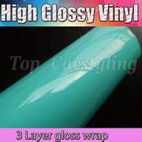 Tiffany 3 Strati Ultra lucido lucido vinile vinile avvolgere foglio auto con bolle Free Decal Wrap fogli Formato: 1.52x20m / rotolo